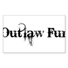 Outlaw Fur Sticker (Rectangle)