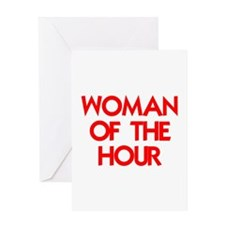 WOMAN OF THE HOUR Greeting Card