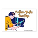 Plumber Fix Your Pipe Postcards (Package of 8)