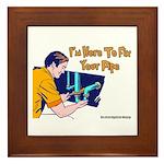 Plumber Fix Your Pipe Framed Tile