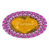 Forever Golden Heart & Pink Diamonds Decal