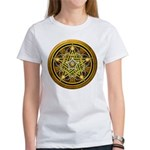 Yellow Crescent Pentacle Women's T-Shirt