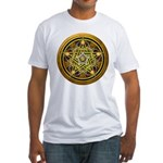 Yellow Crescent Pentacle Fitted T-Shirt
