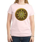 Yellow Crescent Pentacle Women's Light T-Shirt