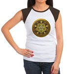 Yellow Crescent Pentacle Women's Cap Sleeve T-Shir