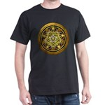 Yellow Crescent Pentacle Dark T-Shirt