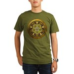 Yellow Crescent Pentacle Organic Men's T-Shirt (da