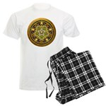 Yellow Crescent Pentacle Men's Light Pajamas