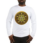 Yellow Crescent Pentacle Long Sleeve T-Shirt