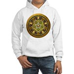 Yellow Crescent Pentacle Hooded Sweatshirt