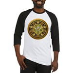Yellow Crescent Pentacle Baseball Jersey