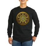 Yellow Crescent Pentacle Long Sleeve Dark T-Shirt