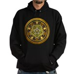 Yellow Crescent Pentacle Hoodie (dark)
