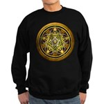 Yellow Crescent Pentacle Sweatshirt (dark)