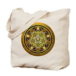 Yellow Crescent Pentacle Tote Bag