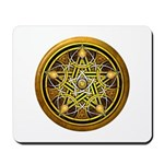 Yellow Crescent Pentacle Mousepad