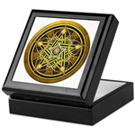 Yellow Crescent Pentacle Keepsake Box