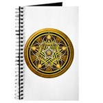 Yellow Crescent Pentacle Journal