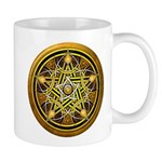 Yellow Crescent Pentacle Mug