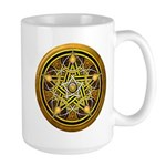 Yellow Crescent Pentacle Large Mug