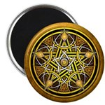 Yellow Crescent Pentacle 2.25