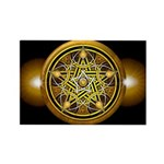 Yellow Crescent Pentacle Rectangle Magnet