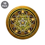 Yellow Crescent Pentacle 3.5