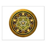Yellow Crescent Pentacle Small Poster