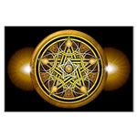 Yellow Crescent Pentacle Large Poster