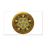 Yellow Crescent Pentacle 22x14 Wall Peel