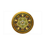 Yellow Crescent Pentacle 38.5 x 24.5 Wall Peel