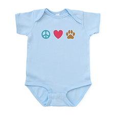 Peace Love Dogs [st] Infant Bodysuit
