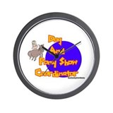 Dog And Pony Show Coordinator Wall Clock