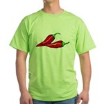 Red Hot Peppers Green T-Shirt