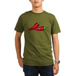 Red Hot Peppers Organic Men's T-Shirt (dark)