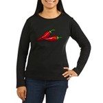 Red Hot Peppers Women's Long Sleeve Dark T-Shirt