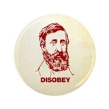 "Thoreau Disobey 3.5"" Button (100 pack)"