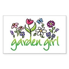Garden Girl 2 Rectangle Decal