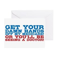 Hands off My Medicare Greeting Cards (Pk of 10)