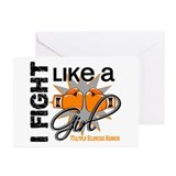 Fight Like A Girl Multiple Sclerosis Greeting Card