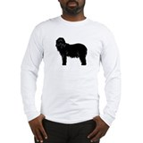 Bearded Collie Silhouette Long Sleeve T-Shirt