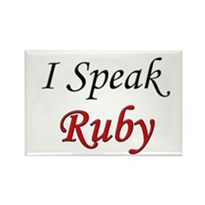 """I Speak Ruby"" Rectangle Magnet (100 pack)"