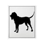 Bloodhound Silhouette Throw Blanket