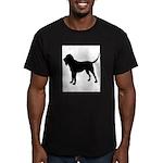 Bloodhound Silhouette Men's Fitted T-Shirt (dark)