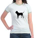 Bloodhound Silhouette Jr. Ringer T-Shirt