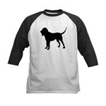 Bloodhound Silhouette Kids Baseball Jersey