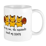 One by one, the squirrels Small Mugs