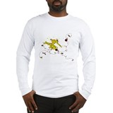 Capoeira Game Yellow Long Sleeve T-Shirt