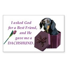 Dachshund Sticker (Black Tan)