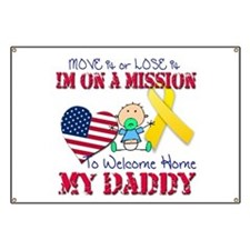 Welcome Home Daddy Baby Banner